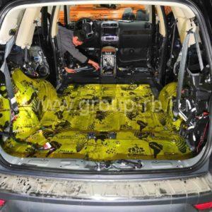 шумоизоляция пола багажника